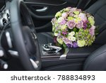 flower bouquet inside a car   Shutterstock . vector #788834893