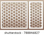 set decorative card for cutting....   Shutterstock .eps vector #788846827
