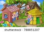a cartoon illustration from the ...   Shutterstock . vector #788851207