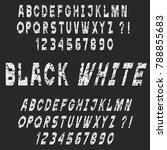 white grunge alphabet letters...   Shutterstock .eps vector #788855683