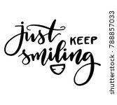 calligraphy inscription just... | Shutterstock .eps vector #788857033