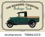 retro truck from the roring... | Shutterstock .eps vector #788861023