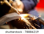 metal cutting with acetylene... | Shutterstock . vector #78886219