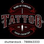 vintage tattoo lettering... | Shutterstock . vector #788863333