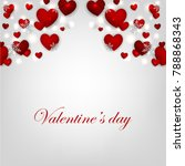 valentines day card with red... | Shutterstock .eps vector #788868343