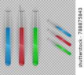 transparent test tube with