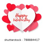 valentines day romantic card... | Shutterstock .eps vector #788884417