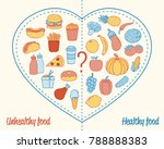 healthy lifestyle concept.... | Shutterstock .eps vector #788888383