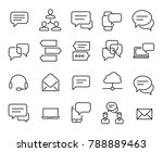simple collection of chat... | Shutterstock .eps vector #788889463