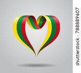 lithuanian flag heart shaped...   Shutterstock . vector #788889607