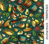 cartoon hand drawn latin... | Shutterstock .eps vector #788896363