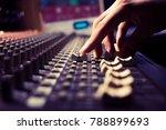 male sound engineer hands... | Shutterstock . vector #788899693