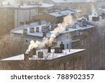 smoking chimneys in szczecin... | Shutterstock . vector #788902357