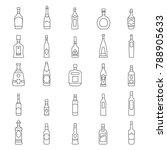 alcohol bottles line icons set. ... | Shutterstock .eps vector #788905633