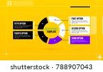 horizontal pie infographics... | Shutterstock .eps vector #788907043