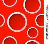 seamless round pattern. circle... | Shutterstock .eps vector #788908063