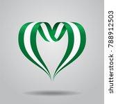 nigerian flag heart shaped wavy ...   Shutterstock . vector #788912503