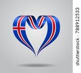 icelandic flag heart shaped... | Shutterstock . vector #788912533