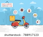 delivery vector illustration.... | Shutterstock .eps vector #788917123