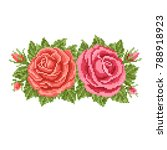 floral   background with roses  ... | Shutterstock .eps vector #788918923