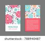 embroidery style flyer with... | Shutterstock .eps vector #788940487
