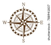 compass wind rose. vector... | Shutterstock .eps vector #788941837