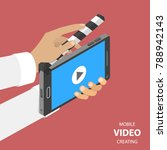 mobile video creating flat...