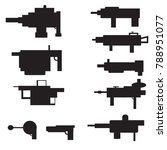 big set of silhouettes of arms...   Shutterstock .eps vector #788951077