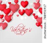 happy valentine's day card... | Shutterstock .eps vector #788951917