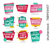 valentine's day sale banners... | Shutterstock .eps vector #788955457