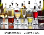 selection of alcoholic drinks.... | Shutterstock . vector #788956123