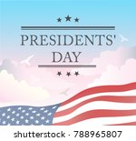 presidents day in usa... | Shutterstock .eps vector #788965807