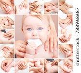 seven month baby girl's neck ... | Shutterstock . vector #788968687