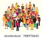 flat illustration of society... | Shutterstock .eps vector #788970643