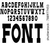 simple black font  alphabet... | Shutterstock .eps vector #788977453