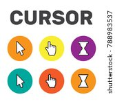 pixel cursors icons mouse hand... | Shutterstock .eps vector #788983537
