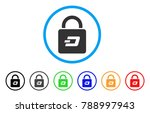 dash lock rounded icon. style... | Shutterstock .eps vector #788997943