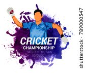 cricket championship  playing... | Shutterstock .eps vector #789000547