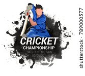cricket championship  playing... | Shutterstock .eps vector #789000577