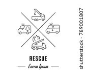 vector logo rescue. hipster...   Shutterstock .eps vector #789001807