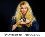 woman fortune teller with... | Shutterstock . vector #789002737