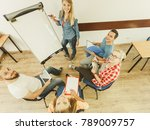 team collaboration meeting... | Shutterstock . vector #789009757