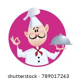 friendly funny chef vector... | Shutterstock .eps vector #789017263