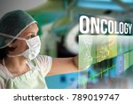 oncology concept. doctor using...