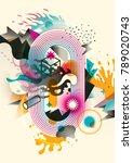 modern abstract illustration... | Shutterstock .eps vector #789020743