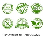 green badges for labeling... | Shutterstock .eps vector #789026227