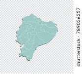 ecuador map   high detailed...   Shutterstock .eps vector #789026257