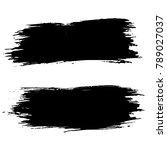grunge ink brush strokes....   Shutterstock .eps vector #789027037