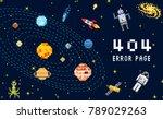 404 error page. not found.... | Shutterstock .eps vector #789029263