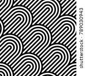 vector geometric pattern.... | Shutterstock .eps vector #789030943